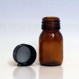 Flacon verre 30 ml ouvert