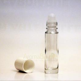 Flacon verre 10 ml à bille avec système roll-on ouvert