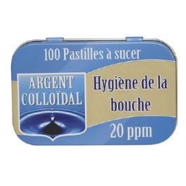 Hygiène de la bouche - 100 pastilles à l'argent colloÏdal