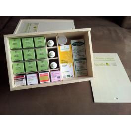 Coffret huiles essentielles aromathèque
