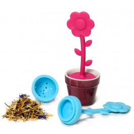 Infusette à tisane et thé pot de fleur