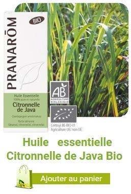 Huile essentielle bio de citronnelle de Java